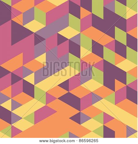 Abstract 3d geometrical background. Mosaic. Vector illustration.