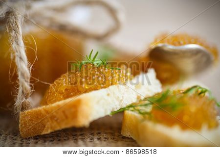 Bread Spread With Salted Pike Caviar