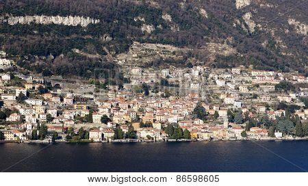 Lake Como (italy) And Menaggio Town On Shore