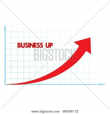 Arrow Diagram Business Up