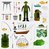 pic of fishing rod  - Fishing infographic elements - JPG