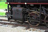 stock photo of steam  - Old steam train locomotive - JPG