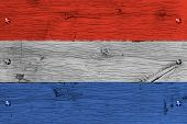 stock photo of bolt  - The Netherlands Dutch national flag - JPG