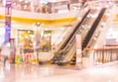 picture of escalator  - image of escalators at the modern shopping mall - JPG