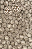 stock photo of unicity  - A beautiful bubbles pattern formed by many dots - JPG
