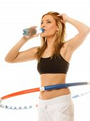 picture of hula hoop  - Sport training gym and lifestyle concept - JPG