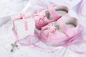pic of christening  - Baby shoe and cross for Christening - JPG