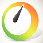 image of benchmarking  - Eps 10 Vector Illustration of a Dial in Perspective with Shadow - JPG