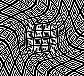 stock photo of distort  - Eps 10 Vector Illustration of Square pattern with swirling distortion effect - JPG