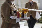 picture of catering  - Professional catering service serving drinks to guests.