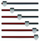 stock photo of potentiometer  - Eps 10 Vector Illustration of Slider Adjuster Bars - JPG