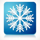 stock photo of cold-weather  - Eps 10 Vector Illustration of a Snowflake Icon for Cold Weather or Cold Concepts - JPG
