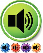 foto of speaker  - Eps 10 Vector Illustration of Speaker notification icons - JPG