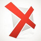 stock photo of letter x  - Eps 10 Vector Illustration of Red Cross X Shape X Letter w - JPG