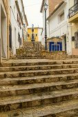 foto of costa blanca  - Narrow old town streets of a Costa Blanca village - JPG