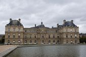 pic of cloudy  - The Luxembourg palace in Paris in cloudy day - JPG