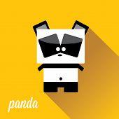foto of panda bear  - panda bear vector illustration - JPG
