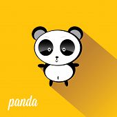 picture of panda  - panda bear vector illustration - JPG