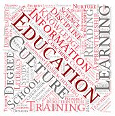 pic of nurture  - Education word cloud on a white background - JPG