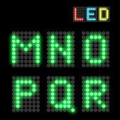 picture of neon green  - Green dotted LED display letter - JPG