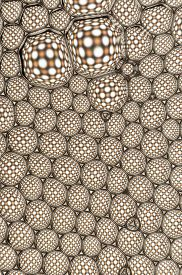 picture of unicity  - A beautiful bubbles pattern formed by many dots - JPG
