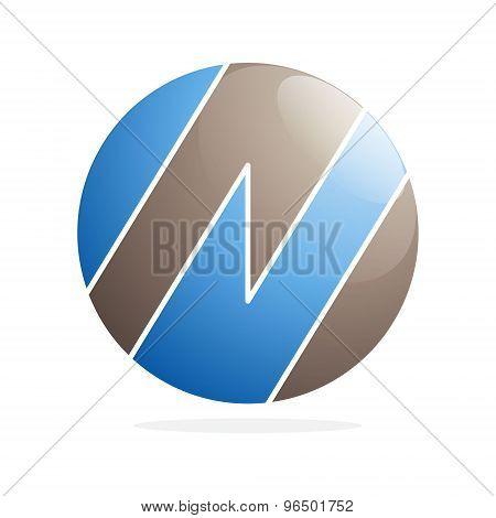 N Letter Volume Logo