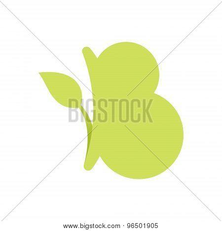 B Letter Eco Logo