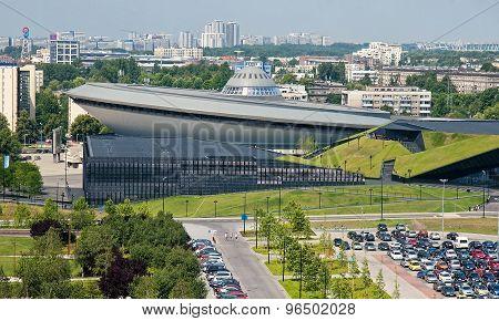 Katowice, Poland - July 19, 2015: Sports Hall Spodek On 19 July