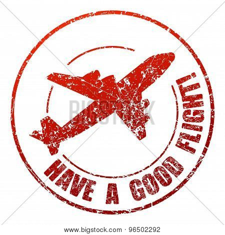 Have A Good Flight Rubber Stamp