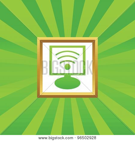 Wi-Fi monitor picture icon