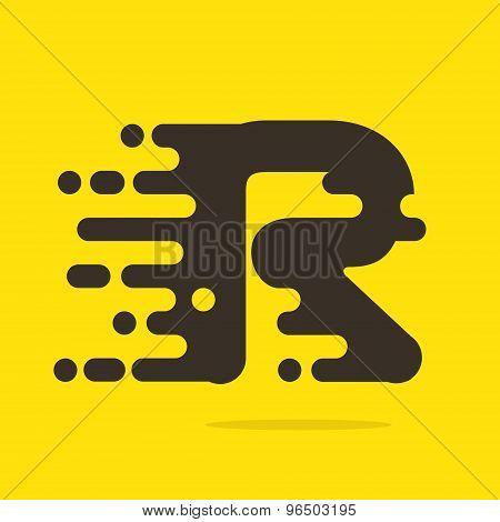 R Letter Logo Design Template.