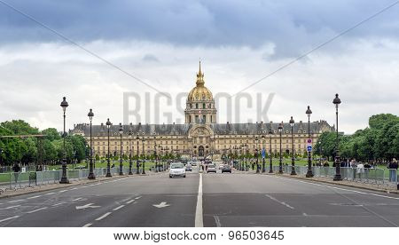 Paris, France - May 14, 2015: Tourist Visit The Army Museum (musee De L'armee) In Paris, France.