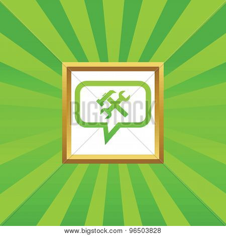 Repairs message picture icon