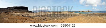 Dry Djeu Landscape With Brava In The Horizon