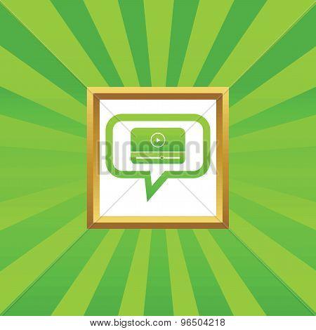 Mediaplayer message picture icon
