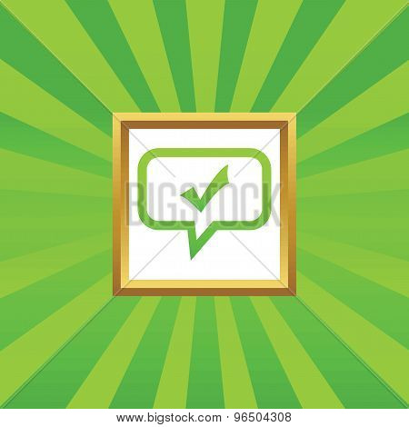 Tick mark message picture icon