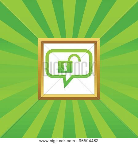 Unlocked message picture icon