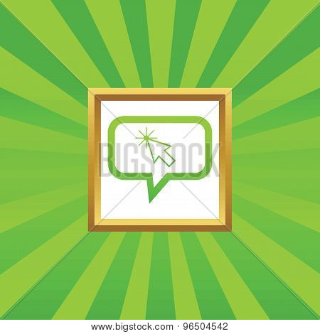 Arrow cursor message picture icon