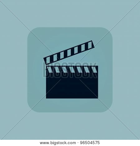 Pale blue clapperboard icon