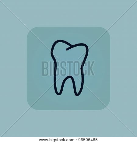 Pale blue tooth icon