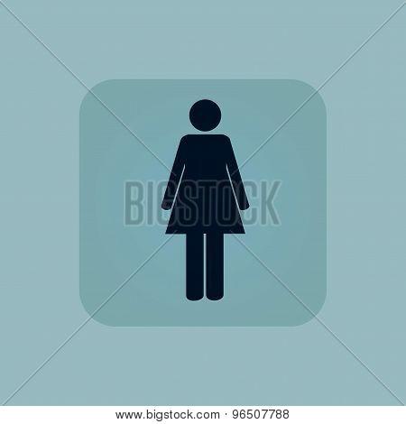 Pale blue woman icon