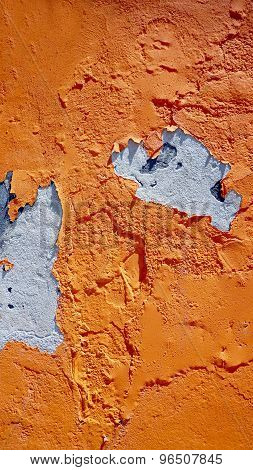 Decay Orange Color Wall In Burano