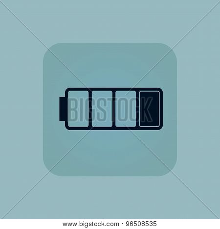 Pale blue low battery icon