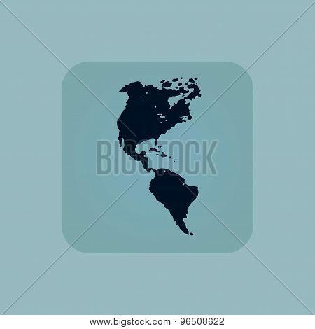 Pale blue America icon