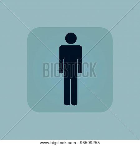 Pale blue man icon