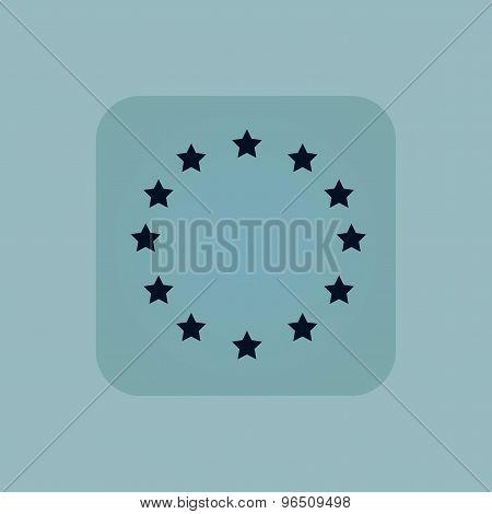 Pale blue European Union icon