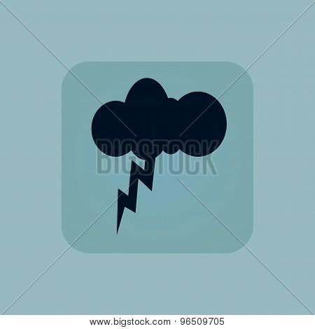 Pale blue thunderstorm icon