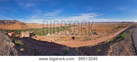 panoramic view of Tinghir valley in morocco