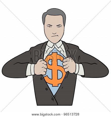 Tearing Shirt Businessman