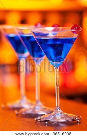 Cocktails Collection - Blue Martini
